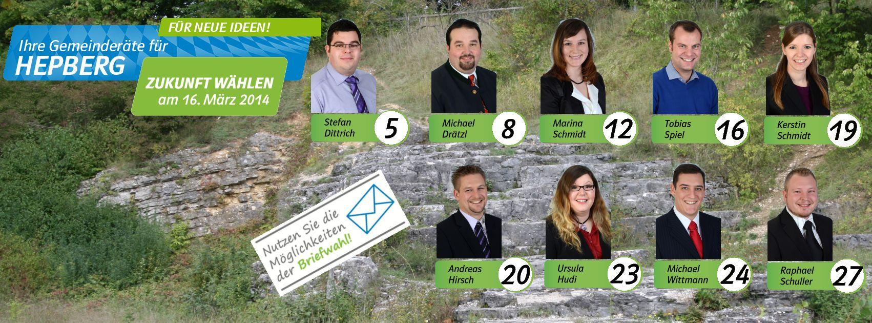 Gemeinderatskandidaten Kommunalwahl Hepberg 2014